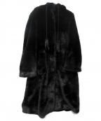 Lautashi(ラウタシー)の古着「fake fur coat」 ブラック