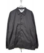 GOOD DESIGN SHOP COMME des GARCONS(グッドデザインショップ コムデギャルソン)の古着「CDG LOGO COACH JACKET Black」|ブラック