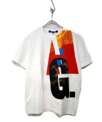 JUNYA WATANABE CdG MAN(ジュンヤ ワタナベ コム デ ギャルソン マン)の古着「プリントTシャツ」 ホワイト