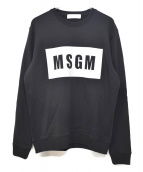 MSGM(エムエスジーエム)の古着「BOX LOGO SWEAT」 ブラック×ホワイト