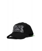 KENZO(ケンゾー)の古着「TIGER GABARDINE BASEBALL CAP」|ブラック