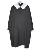 COMME des GARCONS COMME des GA(コムデギャルソン)の古着「ブラウスワンピース」|ブラック