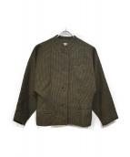 COMME des GARCONS(コムデギャルソン)の古着「オールドノーカラージャケット」 グリーン