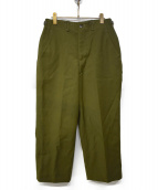 US ARMY(米軍)の古着「FIELD TROUSERS WOOL」|カーキ