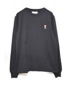 AMI Alexandre Mattiussi(アミ アレクサンドル マテュッシ)の古着「20A/W Long Sleeves Cotton Logo」|ブラック