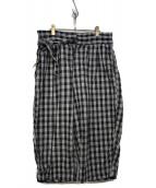 Porter Classic(ポータークラシック)の古着「18S/S PALAKA CHINESE PANTS」|ブラック×ホワイト