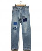 ATELIER&REPAIRS(アトリエ&リペアーズ)の古着「リペア加工デニムパンツ」|ライトインディゴ