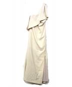 UN3D.(アンスリード)の古着「ワンショルダーブラウスワンピース」|アイボリー