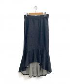Lautashi(ラウタシー)の古着「マーメイドスカート」 インディゴ