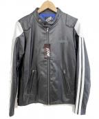 LEFLAH(レフラー)の古着「シングルレザーライダースジャケット」|ブラック