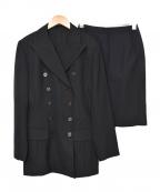Jean Paul Gaultier FEMME(ジャンポールゴルチェ フェム)の古着「セットアップダブルスーツ」|ブラック