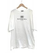 BALENCIAGA(バレンシアガ)の古着「オーバーサイズBBロゴクルーネックTシャツ」 ホワイト