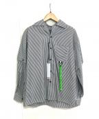REPRESENT(リプレゼント)の古着「ストライプシャツ」 グレー