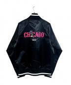 MITCHELL & NESS(ミッチェルアンドネス)の古着「Cubs Satin Jacket」|ブラック
