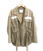 mame kurogouchi(マメ クロゴウチ)の古着「リネンジャケット」|ベージュ