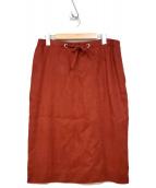 HERMES(エルメス)の古着「リネンスカート」|レッド