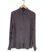 GUCCI(グッチ)の古着「GGシルクシャツ」|ブラック
