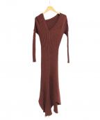 styling/(スタイリング)の古着「オープンバックニットドレス」|ブラウン