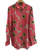 marimekko(マリメッコ)の古着「ウニッコ柄ブラウス」 ピンク