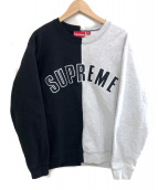Supreme(シュプリーム)の古着「split crewneck sweatshirt」|ブラック×グレー