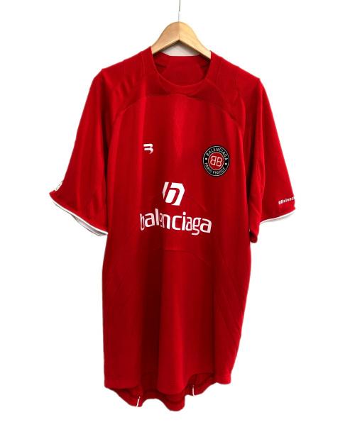 BALENCIAGA(バレンシアガ)BALENCIAGA (バレンシアガ) SoccerプリントTシャツ レッド サイズ:XS 未使用品の古着・服飾アイテム