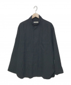 nestrobe confect(ネストローブ コンフェクト)の古着「コットンウールビエラハイネックシャツ」 ネイビー