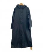 Pilgrim Surf+Supply(ピルグリム サーフ+サプライ)の古着「フーデッドロングコート」 ブラック