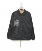 Soe(ソーイ)の古着「ナイロンコーチジャケット」 ブラック