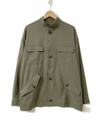 CLANE HOMME(クラネ オム)の古着「20SS STAND COLLAR MILITARY JAC」|カーキ