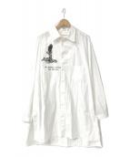 YohjiYamamoto pour homme(ヨウジヤマモトプールオム)の古着「18A/W WE NEEDED左胸あきプリントシャツ」 ホワイト