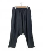 Yohji Yamamoto pour homme(ヨウジヤマモトプールオム)の古着「19S/S サルエル裏毛パンツ」|ブラック