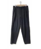 ()の古着「92A/W ウールギャバ2タックワイドロングパンツ」 ブラック