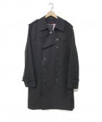 SANYO(サンヨー)の古着「<100年コート>ダブルトレンチコート」|ブラック