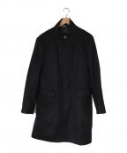 LANVIN en Bleu(ランバンオンブルー)の古着「フライフロント スタンドカラーコート」|ネイビー