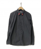 GIVENCHY()の古着「17S/S 襟刺繍比翼シャツ」|ブラック