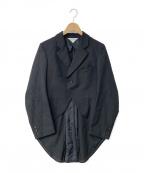 ROBE DE CHAMBRE COMME DES GARC(ローブドシャンブル コムデギャルソン)の古着「03A/W 星マーク燕尾ジャケット」 ブラック