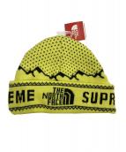 SUPREME×THE NORTH FACE(シュプリーム×ザノースフェイス)の古着「18AW Expedition Fold Beanie」|イエロー
