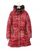 Desigual(デシグアル)の古着「キルティングコート」|レッド