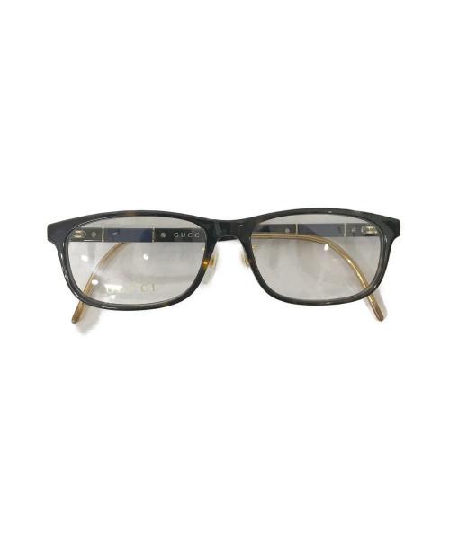 GUCCI(グッチ)GUCCI (グッチ) 伊達眼鏡 ブラウン GG0858OJの古着・服飾アイテム