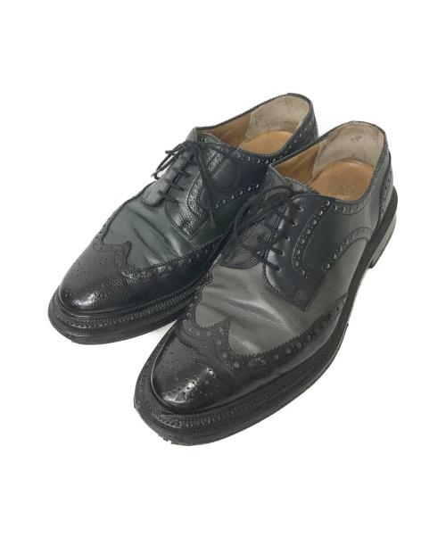 ENZO BONAFE(エンツォボナフェ)Enzo bonafe (エンツォボナフェ) バイカラーシューズ ブラック サイズ:40 1/2  PER LYuccasの古着・服飾アイテム