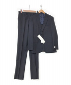 TOMORROW LAND(トゥモローランド)の古着「トロピカルウール 2ボタンスーツ」|ネイビー