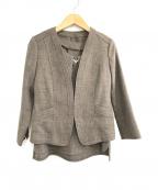 COUP DE CHANCE(クード シャンス)の古着「ブラウス・ジャケットセット」|ブラウン