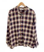 ROTT WEILER(ロットワイラー)の古着「C/R Check Oen Collar LS Shirts」|レッド