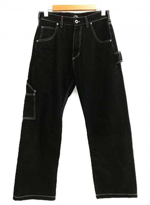 PACCBET(ラスベート)PACCBET (ラスベート) ラスベート コントラストステッチ デニムパンツ ブラック サイズ:Sの古着・服飾アイテム
