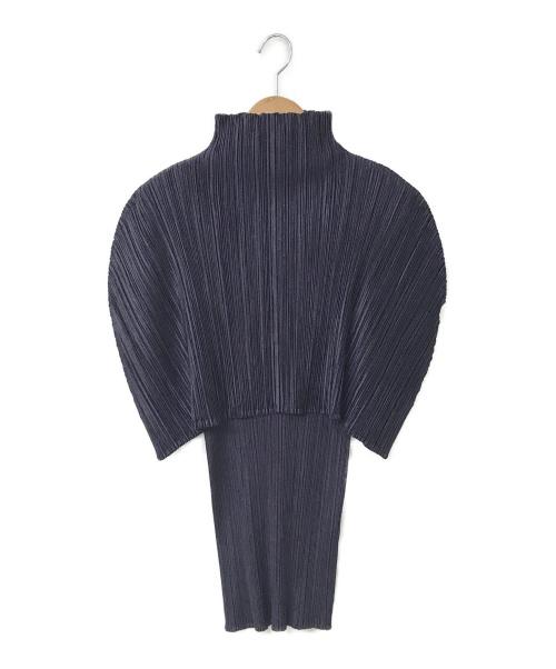 PLEATS PLEASE(プリーツプリーズ)PLEATS PLEASE (プリーツプリーズ) ドッキングレイヤードブラウス パープル サイズ:4 PP63-JK648の古着・服飾アイテム