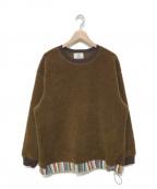 KUON(クオン)の古着「19A/W 裂き織りプルオーバースウェット」|ブラウン