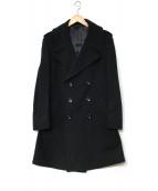 GUCCI(グッチ)の古着「ダブルPコート」|ブラック