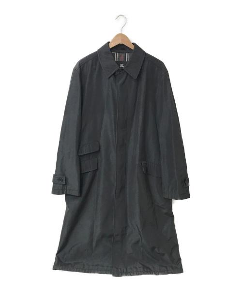 BURBERRY BLACK LABEL(バーバリーブラックレーベル)BURBERRY BLACK LABEL (バーバリーブラックレーベル) 比翼ステンカラーコート ブラック サイズ:L BMA04-702-09の古着・服飾アイテム