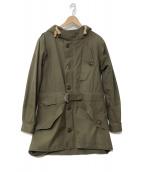 NIGEL CABOURN(ナイジェルケーボン)の古着「ハリスツイードヴェンタイルコート」|カーキ