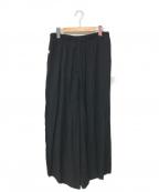 B Yohji Yamamoto(ビーヨウジヤマモト)の古着「Drawstring Wide-leg Trousers」 ブラック